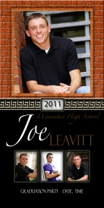 K Jay Photos, custom graduation senior picture invites.