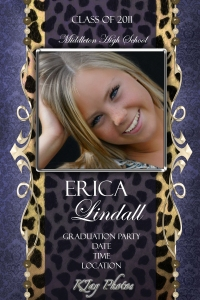 Creative Graduation Party Announcements.  K Jay Photography Senior Photos
