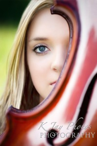 High School Senior Pictures with violin