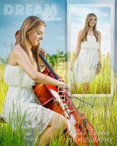 Senior Pictures with musical instruments