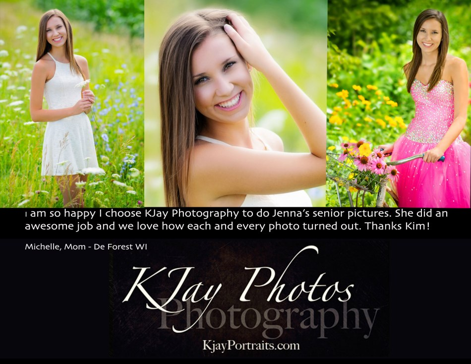 KJay Photography Review, Jenna De Forest WI Senior Pictures