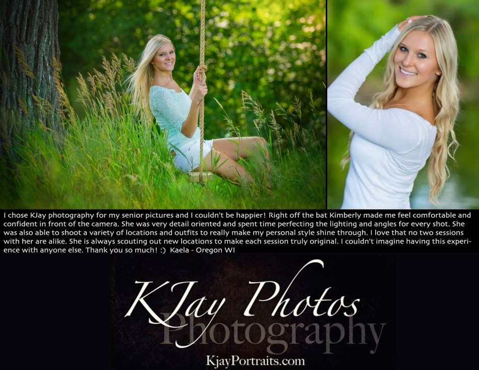 KJay Photography Review by Oregon WI Senior.